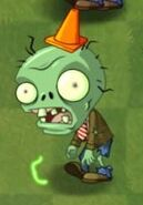 Glowing Big Brainz Conehead Zombie