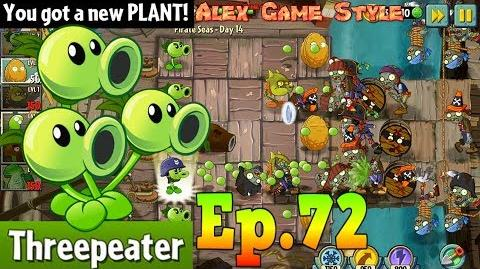 Plants vs. Zombies 2 Got a New Plant Threepeater Pirate Seas Day 14 (Ep