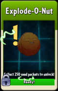 Explode-O-Nut about to be unlocked