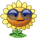 Sunflower with it's costume Round Icon