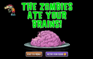 Zombie with no arm or wrist and he's eating brainz anyway