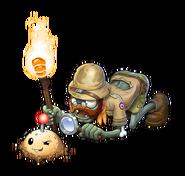 HD PvZO Main Menu Explorer Zombie