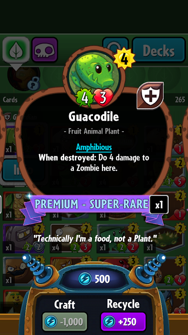 Guacodile (PvZH)/Gallery