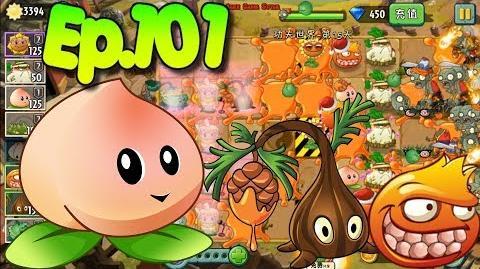 Plants vs. Zombies 2 (China) - Unlocked 2 new Plants, Heavenly Peach - Kung-Fu World Day 15 (Ep