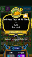 2nd Best Taco of All Time stats