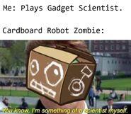 Cardboard meme flag zombie