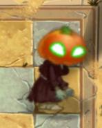 Green Eyes Pumpkin Zombie