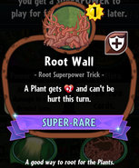 Root Wall statistics crop