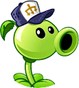 Peashooter with it's costume Round Icon