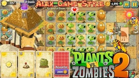 Plants vs. Zombies 2 See what a Pyramid is Ancient Pyramid of Doom Level 1 (Ep
