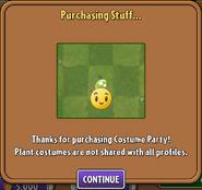 Purchasing Spring Bean Costume 2
