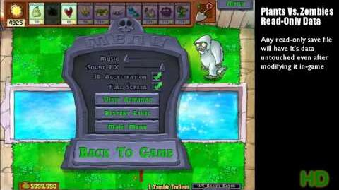 Plants vs Zombies - Read-Only Data