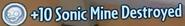 Sonic Mine Destroyed