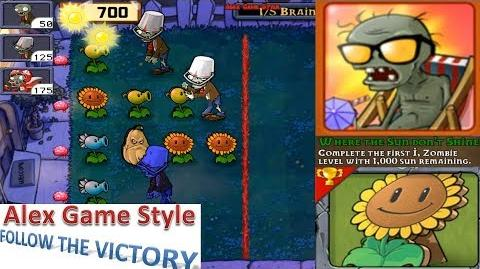 Plants vs. Zombies - Achievement - Where the Sun dont't Shine I, Zombie (Android HD) Ep
