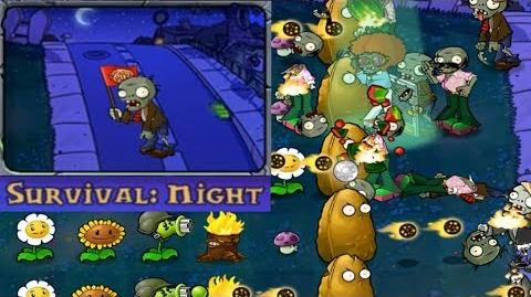 Plants vs. Zombies - Survival - Night (Android Gameplay HD) Ep