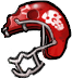 Zombie football helmet3