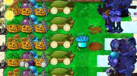 Plants vs Zombies - Survival Day Endless - 5 Cobs strategy