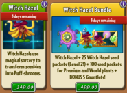 Witch Hazel with costume and bundle in store