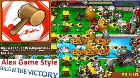 Plants vs. Zombies - Achievement - Hammer Time! Last Stand Endless (Android HD) Ep