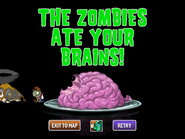 Defeated Zombie Bull and Zombie Bull Rider Ate Brains