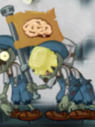 Buttered Flag Labor Zombie