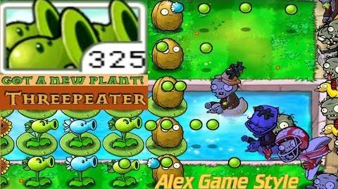 Plants vs. Zombies Adventure Got a Threepeater level 3-2 Pool (Android Gameplay HD) Ep