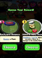 Choice between Backyard Bounce and Admiral Navy Bean