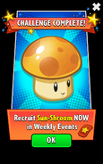 Sun-Shroom In Weekly Events Ads