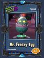 Mr Freezy Egg Sticker