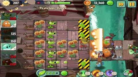 Plants vs Zombies 2 Pirate Seas Day 24 Walkthrough