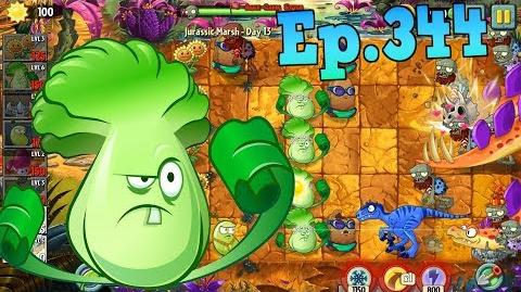 Plants vs. Zombies 2 Primal Wall-nut, Bonk Choy - Jurassic Marsh Day 13 (Ep