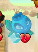 Frozen Electric Bluberry. Why would you do this? 'End of turn' doesn't work like that, stupid player. Unless you happened to use Frozen Tundra or an evolved Unthawed Viking.