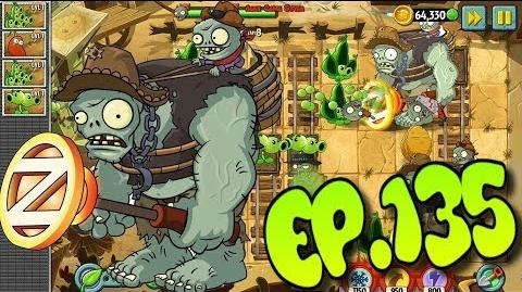 Plants vs. Zombies 2 New Zombie - Wild West Gargantuar - Wild West Day 8 (Ep.135)
