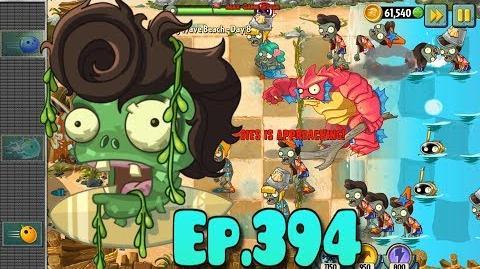 Plants vs. Zombies 2 Bulb Bowling level - New Deep Sea Gargantuar - Big Wave Beach Day 8 (Ep