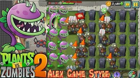 Plants vs. Zombies 2 Chomper Power Up and play Premium Plant Quest (Ep