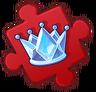 Queen Ice Crown Puzzle Piece