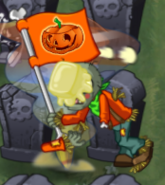 Buttered Lawn of Doom Flag Zombie