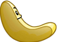 Half Banana card face