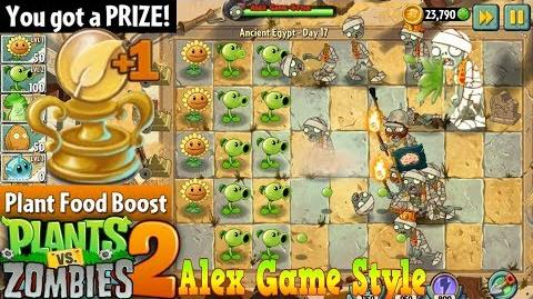 Plants vs. Zombies 2 Prize - Plant Food Boost Ancient Egypt Day 17 (Ep