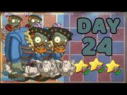 Plants vs Zombies 2 China - Renaissance Age Day & Night 24 -Gargantuar-《植物大战僵尸2》- 复兴时代 24天