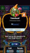 Conehead statistics