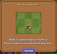 Purchasing Chili Bean Costume