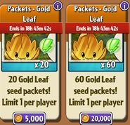 WAIT WHAT??! Gold Leaf with upgrade Seed Packets
