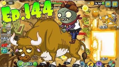 Plants vs. Zombies 2 New Zombie Bull - Wild West Day 13 (Ep