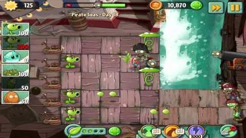 Plants vs Zombies 2 Pirate Seas Day 18 Walkthrough