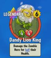 Receiving Dandy Lion King