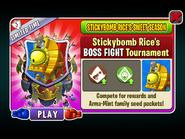 Stickybomb Rice's Sweet Season - Stickybomb Rice 's BOSS FIGHT Tournament