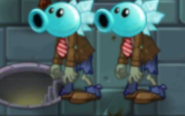 Two Snow Pea Zombies