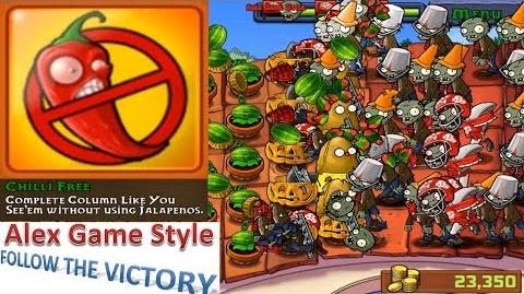 Plants vs. Zombies - Hard Achievement - Chilli Free Brutal survival (Android HD) Ep