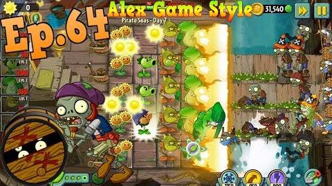 Plants vs. Zombies 2 New Barrel Roller Zombie Pirate Seas Day 7 (Ep